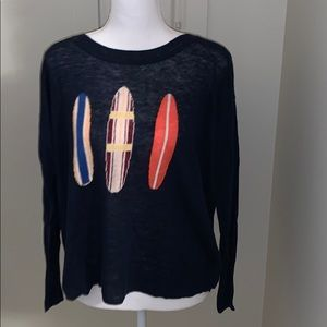 Jcrew surfboard sweater size small